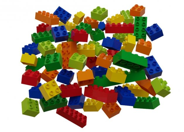 Hubelino Kuličková dráha - kostky barevné 60 ks
