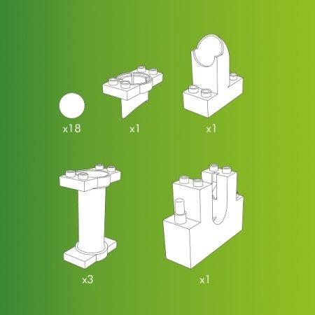 Hubelino Kuličková dráha - rozšíření 24 ks, výtah