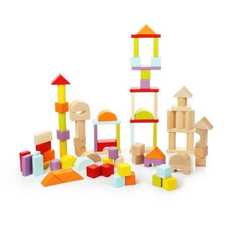 CUBIKA Stavebnice universal - dřevěná stavebnice - 80 dílů