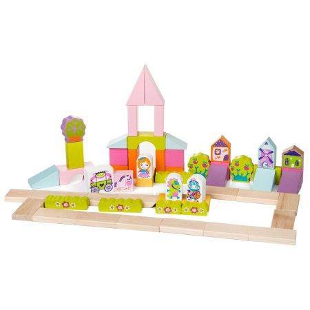 CUBIKA Pohádkové město - dřevěná stavebnice - 55 dílů