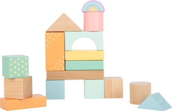 Small Foot Dřevěné kostky pastelové - 50 ks