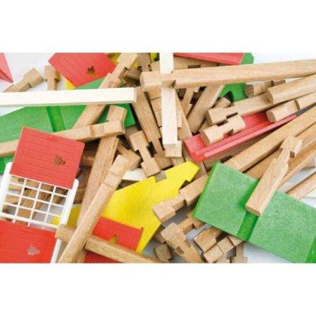 Jeujura Dřevěná stavebnice - Malá farma - 70 dílů