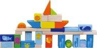 Small Foot Dřevěné stavební kostky - Podmořský svět