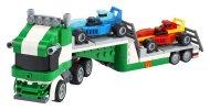 LEGO Creator 31113 - Kamion pro přepravu závodních aut 3v1